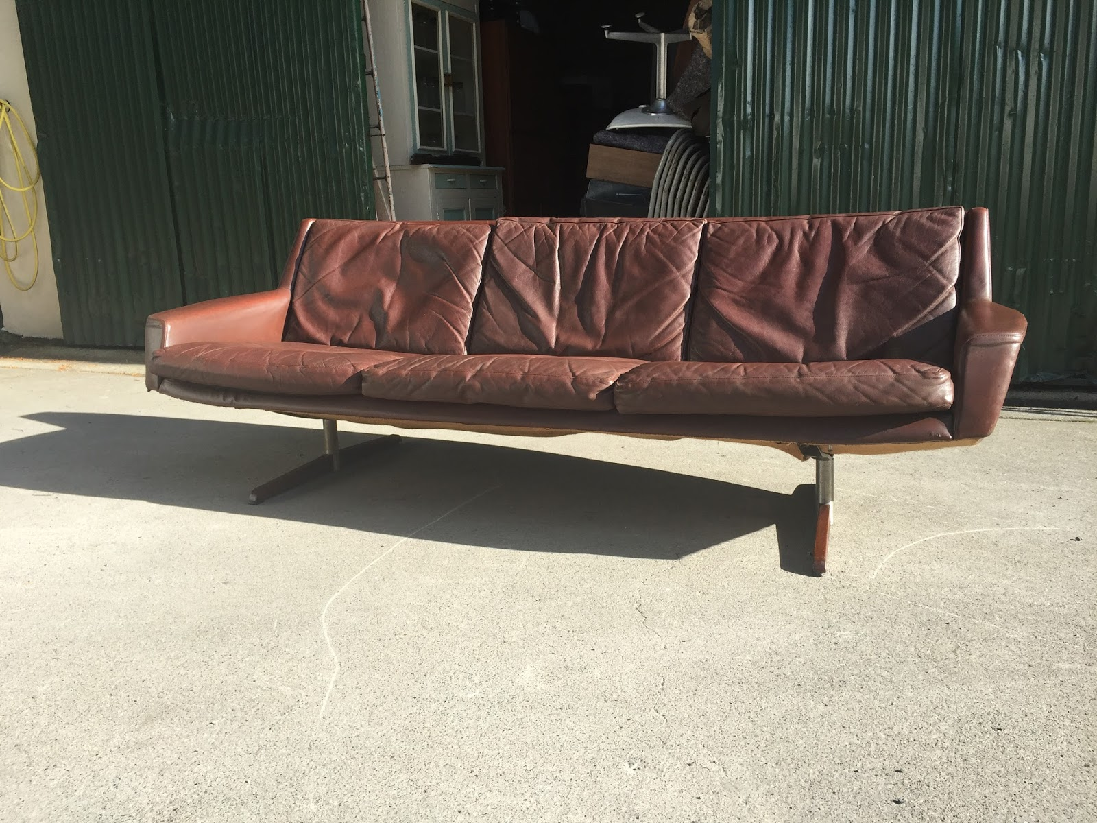 Original Compulsive Design Danish Sofa Attributed To Fredrik Kayser