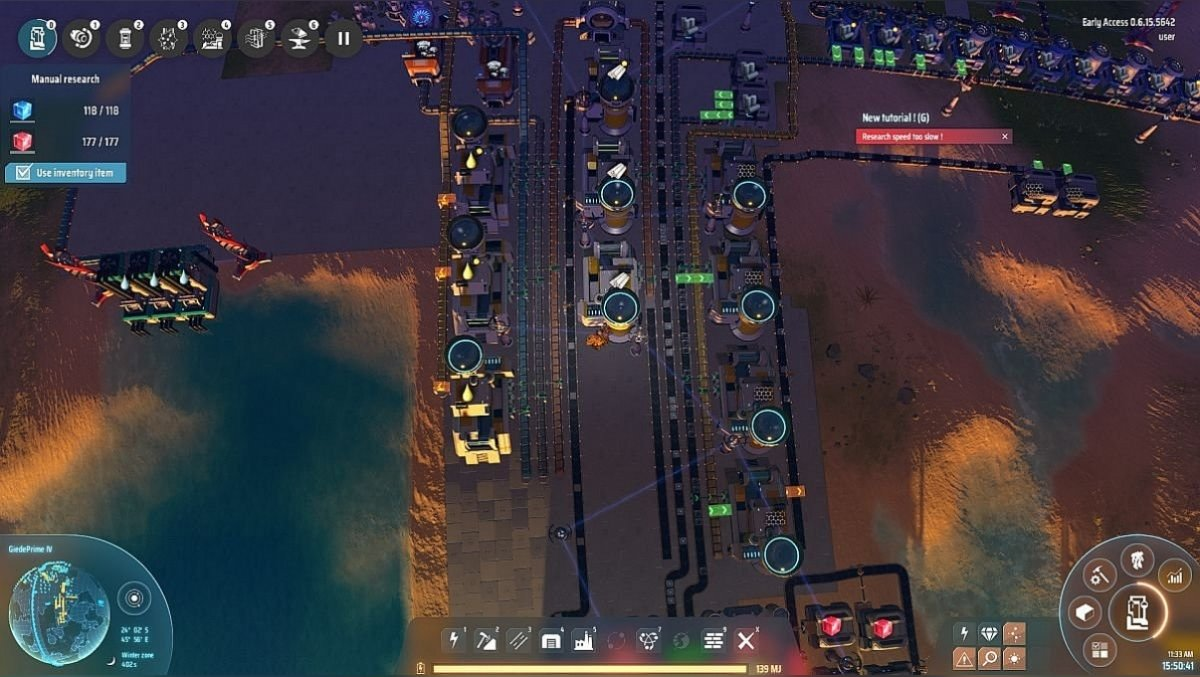 In one of the sectors I ended up with primary oil processing and left the ends for the future