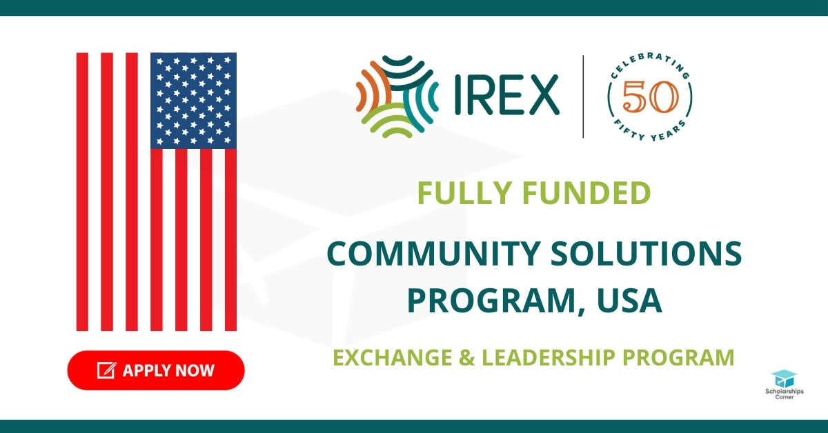 Fully Funded Community Solutions Program 2022 in the USA