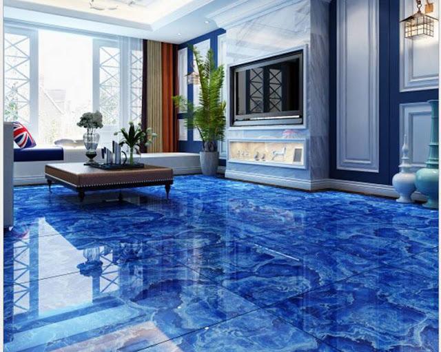 simple 3d vinyl flooring design living room