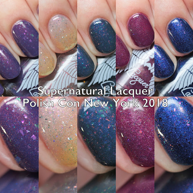 Supernatural Lacquer Polish Con New York 2018 Trio, Topper, and Exclusives