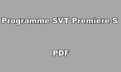 Programme SVT Premiere S PDF