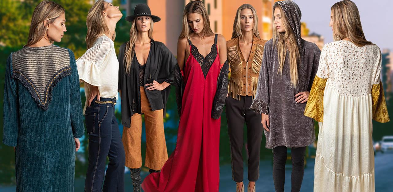 Moda invierno 2019 ropa d emujer estilo casual chic urbano y noche. Vestidos, pantalones, tops y blusas invierno 2019 Silvina Ledesma.
