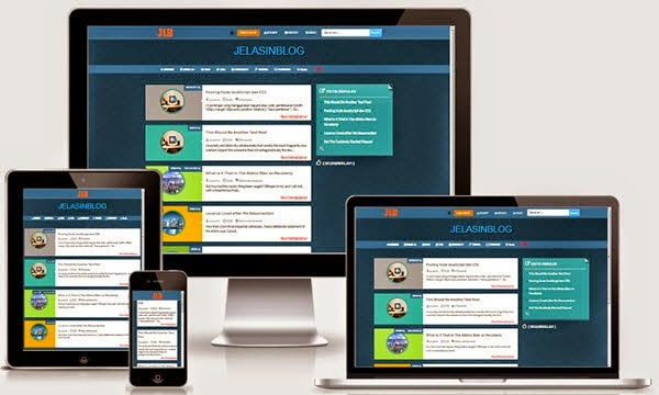 BLUE JEANS Responsive Blogger Template Free Download