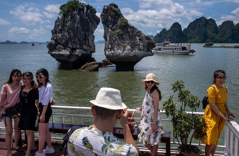 Halong is a bay in Vietnam in the Quang Ninh province. Included in the UNESCO World Heritage List. (Photo by Linh Pham)