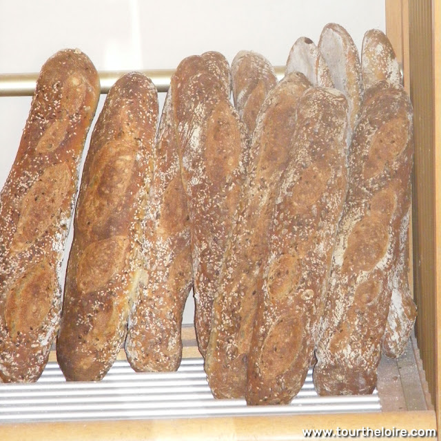 Baguettes in a boulangerie, France. Photo by Loire Valley Time Travel.