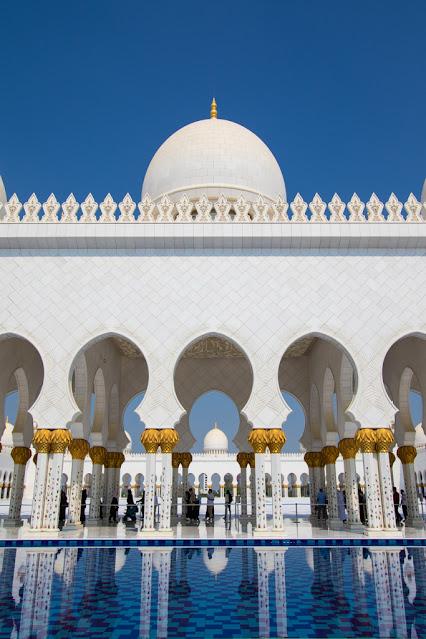 Esterno Moschea dello sceicco Zayed Abu Dhabi