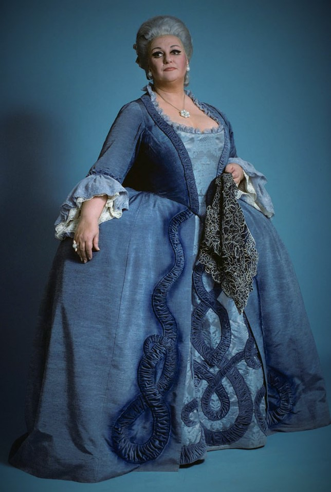 IN MEMORIAM: Soprano MONTSERRAT CABALLÉ (1933 - 2018) in the title rôle of Francesco Cilèa's ADRIANA LECOUVREUR at The Metropolitan Opera in 1978 [Photo by James Heffernan, © by The Metropolitan Opera]