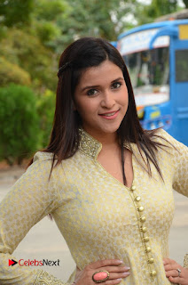 Mannara Chopara Pictures in Long Dress at Thikka First Look Launch ~ Celebs Next