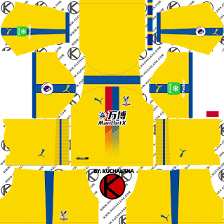 Crystal Palace F.C. 2018/19 Kit - Dream League Soccer Kits