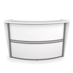 White Reception Desk For A Modern office