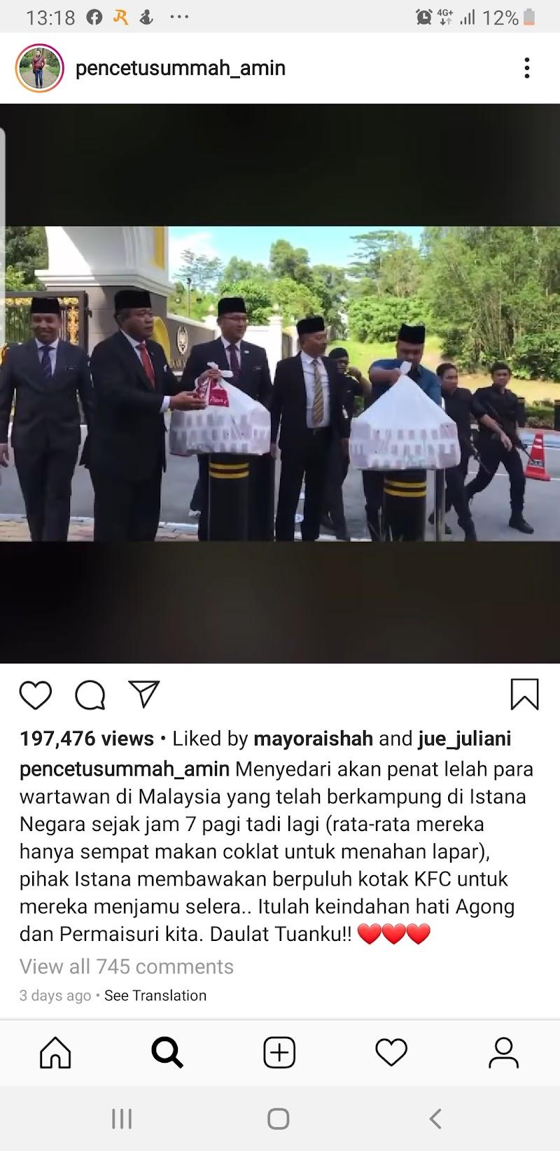 Petugas Media dilayan Baik di Hadapan Istana Negara