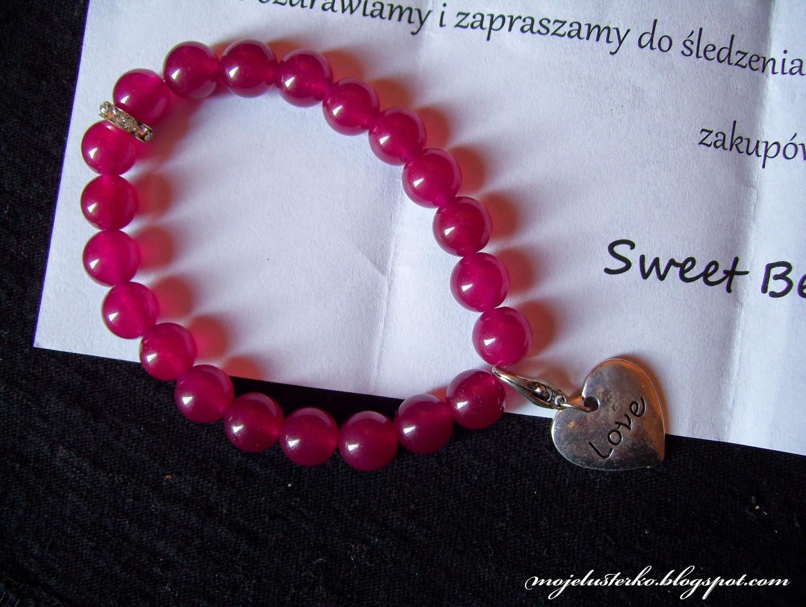 Malinowe cudeńko od Sweet Beads.