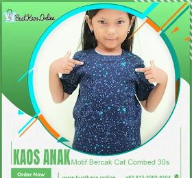 KAOS ANAK MOTIF BERCAK CAT FULL PRINT LUCU <price>Rp.35.000</price> <code>Bercak Anak</code>