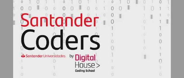 Santander oferta 480 bolsas para cursos online de programação