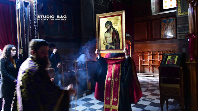 Στον Άγιο Γεώργιο Ναυπλίου έψαλε ο Μητροπολίτης Αργολίδας κατά την ακολουθία του Νυμφίου (βίντεο)