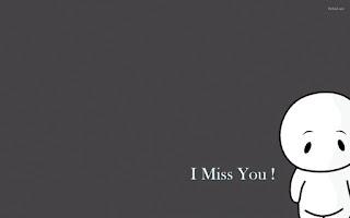 i miss you with sad cartoon image