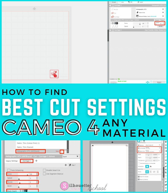 Silhouette 101, Silhouette America Blog, Cut Settings, CAMEO 4, Silhouette CAMEO 4