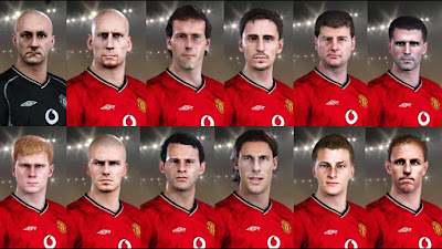 PES 2021 Classic FacePack Manchester United by Andri Mod