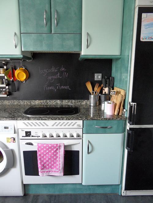 Lalole blog la reforma sin obra de mi cocina un antes y - Cubrir azulejos sin obra ...