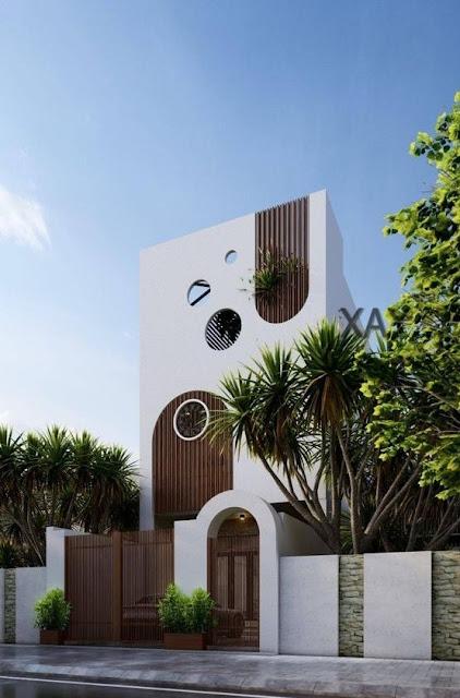 mẫu nhà 2 tầng đẹp kiến trúc độc đáo