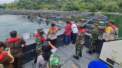 Kapoldasu, Gubsu serta Pangdam I/BB Pimpin Penataan Keramba Jaring Apung di Danau Toba