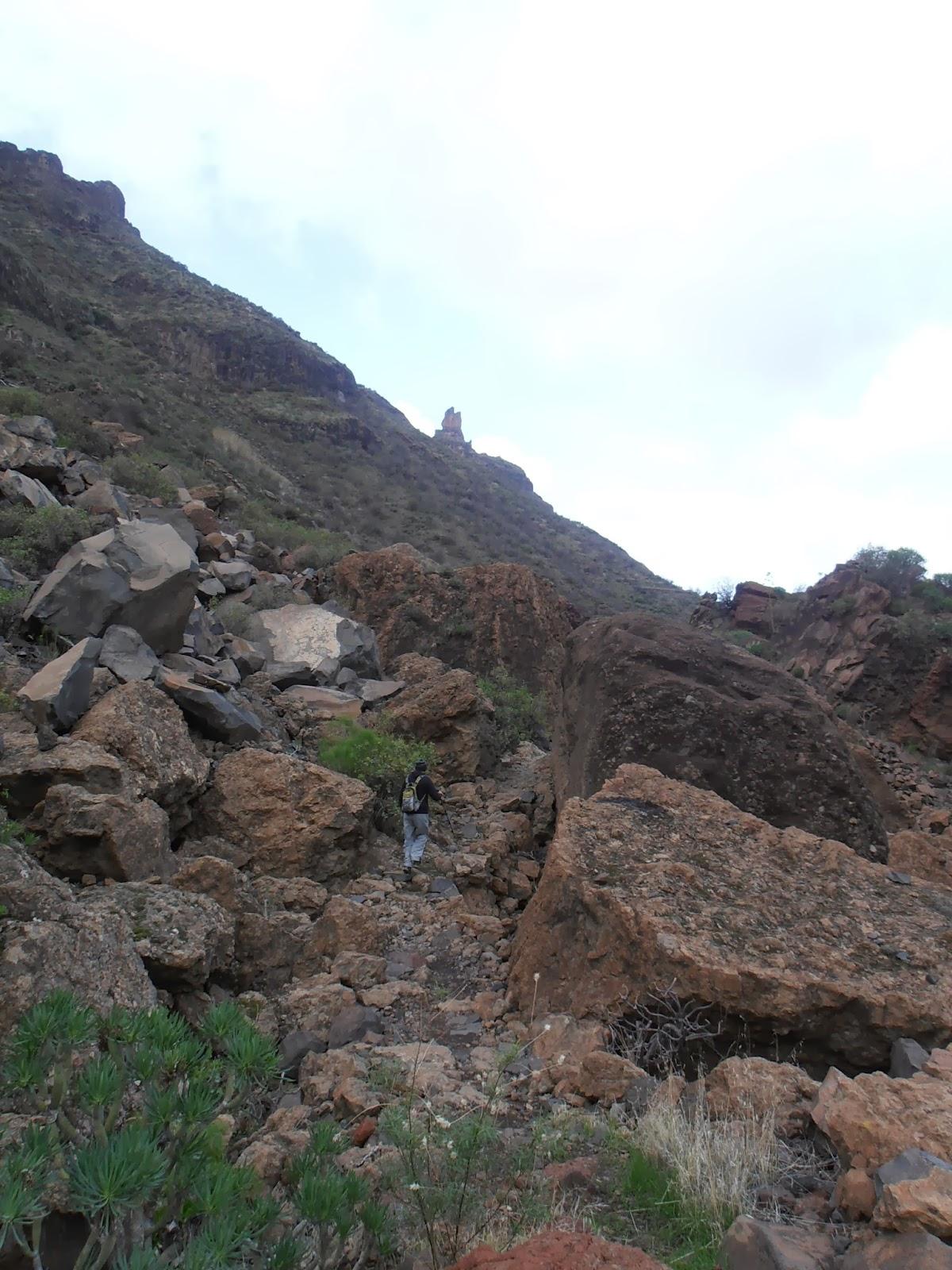 Camino por el caos de piedras