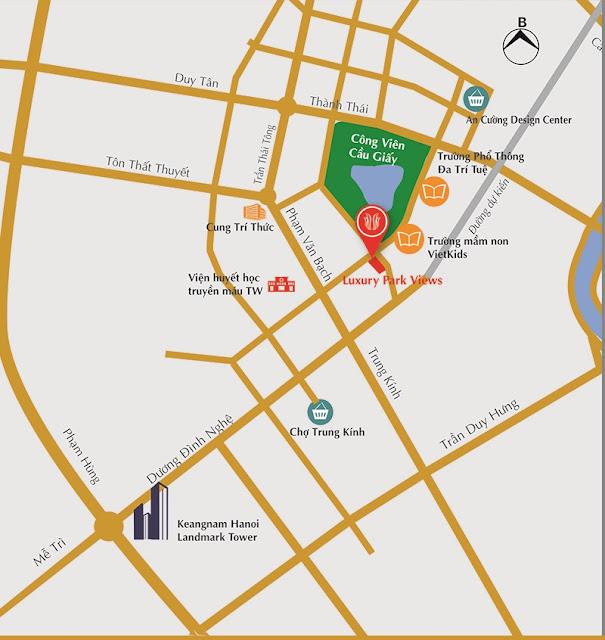 Chủ đầu tư dự án Luxury Park View vị trí