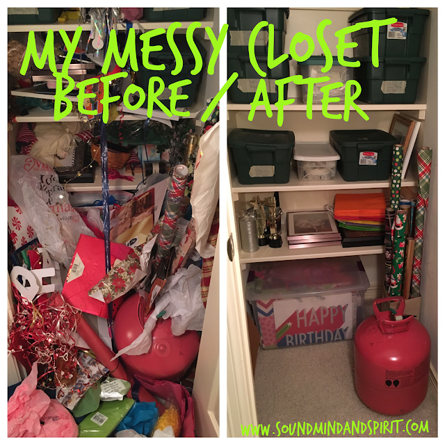 Being authentic online means sharing my messy closet before and after pictures
