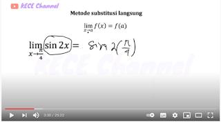 video limit fungsi trigonmetri metode langsung