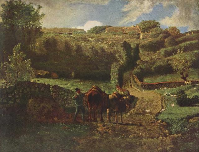 Жан Франсуа Милле - Ферма в Гревилле. 1855