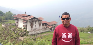 Photo of me near Kuenga Rabten Palace in Trongsa on the way to Zhemgang Bhutan