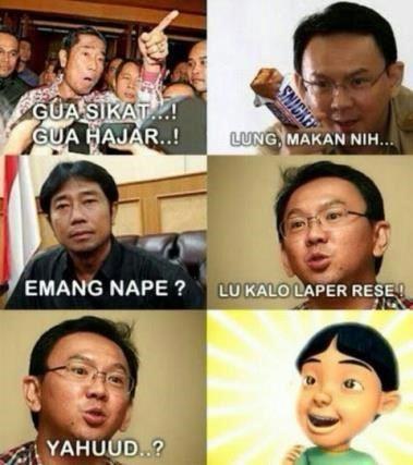 meme haji lulung vs ahok