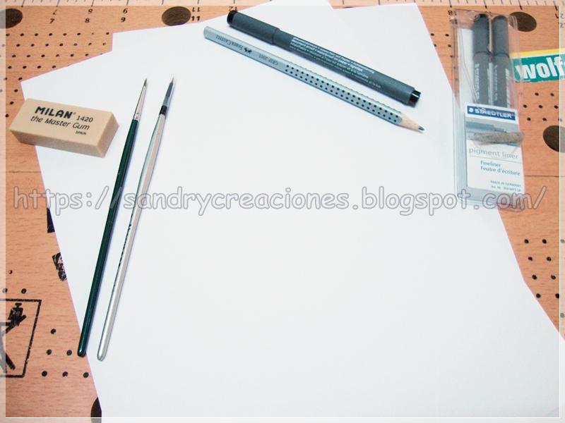 Herramientas de pintura y dibujo