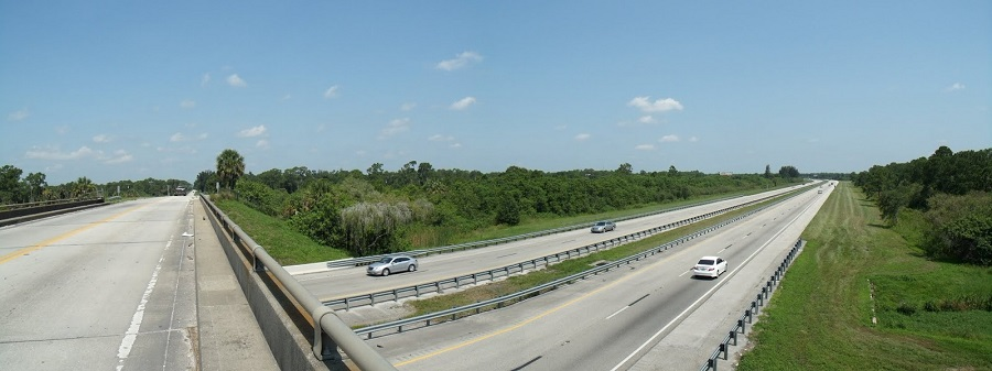Pasando sobre el Florida's Turnpike
