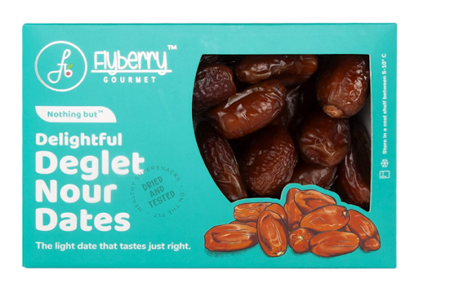 Flyberry Gourmet Deglet Nour Dates (Khajoor) Dry Fruits, 400 G