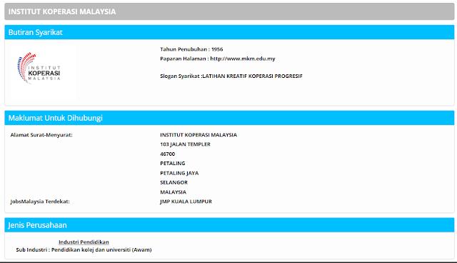 Rasmi - Jawatan Kosong MKM 2020 - Jawatan Maktab Koperasi Malaysia Terkini 2020