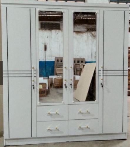 Lemari Pakaian 4 Pintu Modern Minimalis kayu