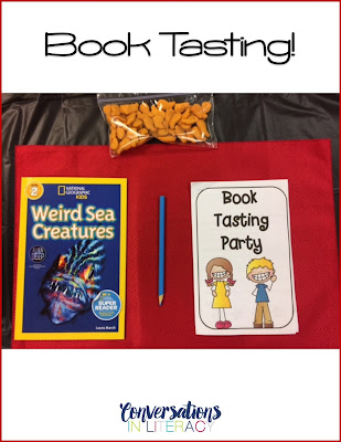 How to set up a Book Tasting Party