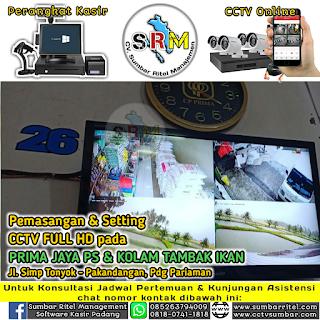 Penambahan CCTV Colour Vu (24 Jam Berwarna) pada Pet Shop PRIMA JAYA - Pakandangan Padang Pariaman