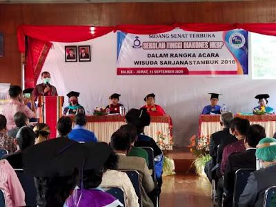28 Mahasiswa Sekolah Tinggi Diakones HKBP Balige di Wisuda