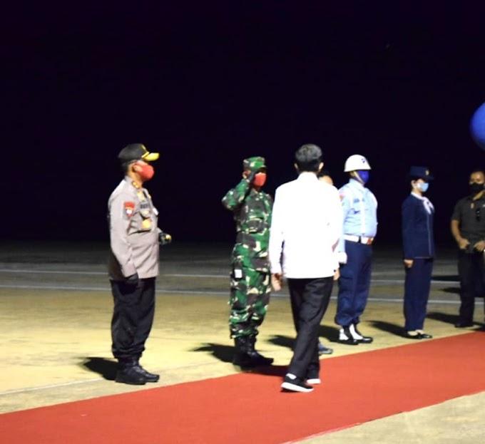 Seluruh Pihak Bersinergi , Kunjungan Kerja Presiden Jokowi di Kalteng Berjalan Aman dan Lancar