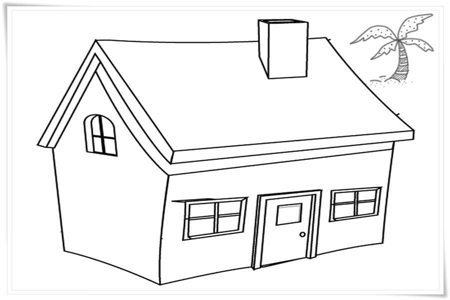 59 Gambar Mewarnai Rumah Untuk Anak Paud Tk Dan Sd Gambar Mewarnai Rumah