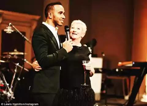 Lewis hamilton and mother