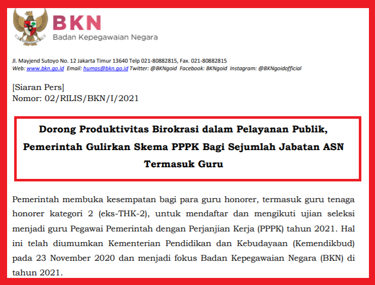 gambar siaran pers bkn pppk 2021
