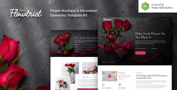Best Flower Boutique & Florist Elementor Template Kit