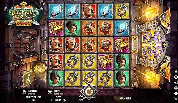 Main Gratis Slot Indonesia - Treasure Heroes (Microgaming)