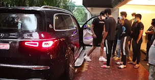 sonu and his son ishant with his new mercedes