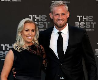 Stine Gyldenbrand with her husband Kasper Schmeichel