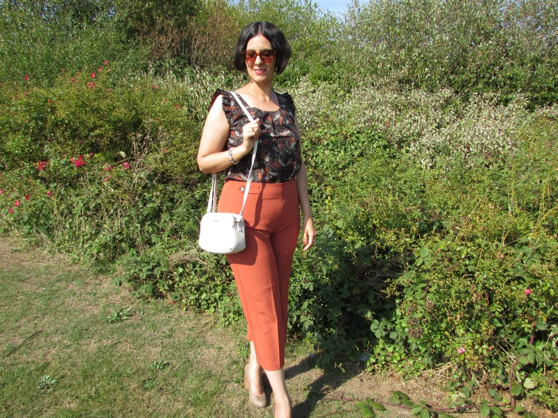 autumn inspired look with rust F&F culottes